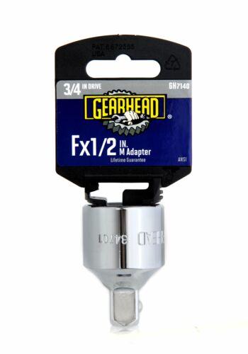 """F x 1//2/"""" M Adapter GH7140 Gearhead 3//4/"""" Drive"""