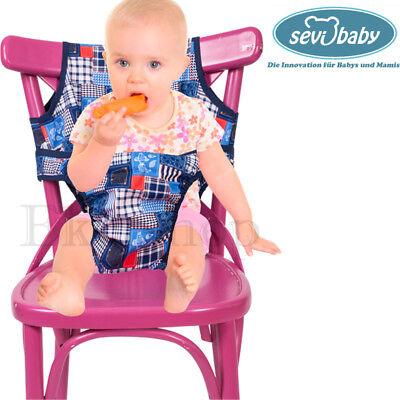 Sevibaby PATCHWORK Baby Stoff Essstuhl Reisestuhl Hochstuhl Stuhlsitz Kindersitz