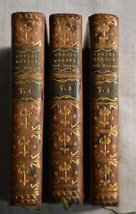 Contes moraux Par M. Marmontel 3 tomes Complet Londre 1780 cuir 23 gravures