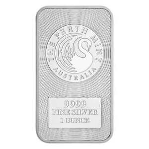 Australian-Kangaroo-1oz-9999-Silver-Minted-Bullion-Bar-The-Perth-Mint