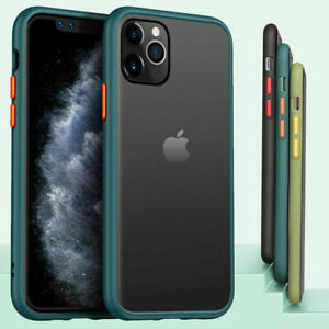 SHOCKPROOF Matte Clear Case For iPhone 12 11 Pro MAX Mini XR XS 7/8 PLUS Cover