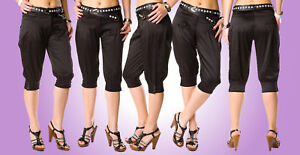 NEW-Trendy-cropped-trousers-with-pockets-BELT-FREE-F79
