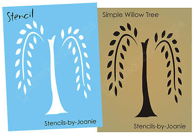 Primitive Stencil Willow Tree Simplify Home Decor Folk Art Wall Craft Signs