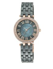 Anne Klein Women's Gray Ceramic Swarovski Accent Crystal Watch AK/2200RGGY