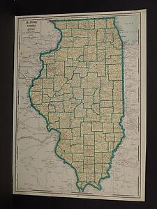 Vintage Map, 1934, Illinois R1#49