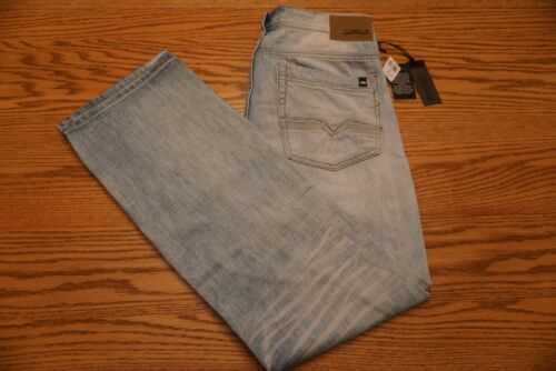 NWT MEN/'S BUFFALO DAVID BITTON JEANS Multiple Sizes Driven Straight Bleached