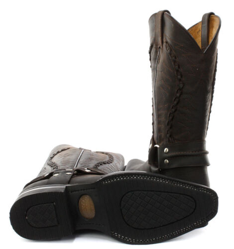 Stivali punta Brown Mens Galveston pelle Slip Shoe Cowboy in Grinders On a Western 8qawT7nA