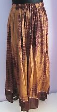 VTG Ladies TOKYO Brown Tie Dye Sequins Cotton Indian/Hippy Midi Skirt Size Large