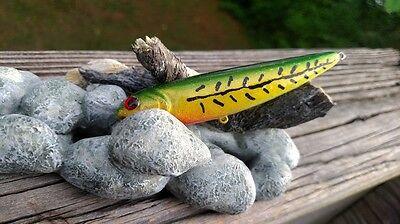 TOPWATER CUSTOM PAINTED LUCKYCRFT SAMMY STYLE-GREEN BONE YELLOW FISHING  LURES | eBay