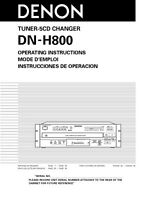 Denon Dn-h800 Cd Changer Owners Manual