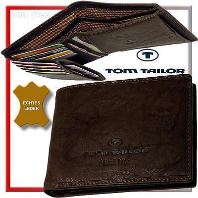 TOM TAILOR Herren-Geldbörse - LARY - Geldbeutel - Quer - Portemonnaie Börse NEU