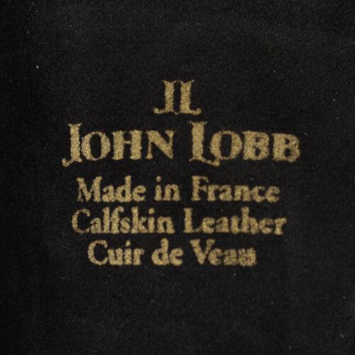 John Lobb Handmade Luxury Twinstitch Buckle Gloves Black Size 9.5 RRP £325