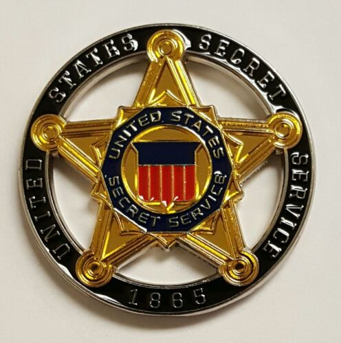 USSS United States Secret Service Loyalty Courage Justice Duty Honesty Cut Out