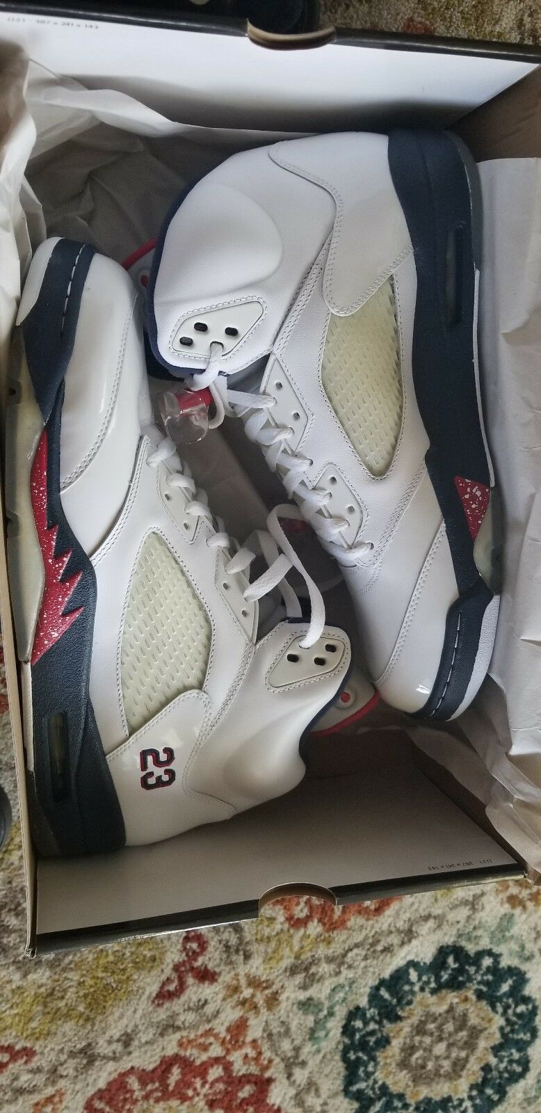 Nike Air Jordan 5 Retro Independence Day 2011 DS Size 12 136027-103