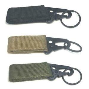 Outdoor Tactical Hanging Belt Buckle Molle Buckle Nylon Key Hook  Carabiner Clip