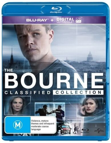 1 of 1 - The Bourne Classified Collection (Blu-ray, 2016, 5-Disc Set)terrific Condition