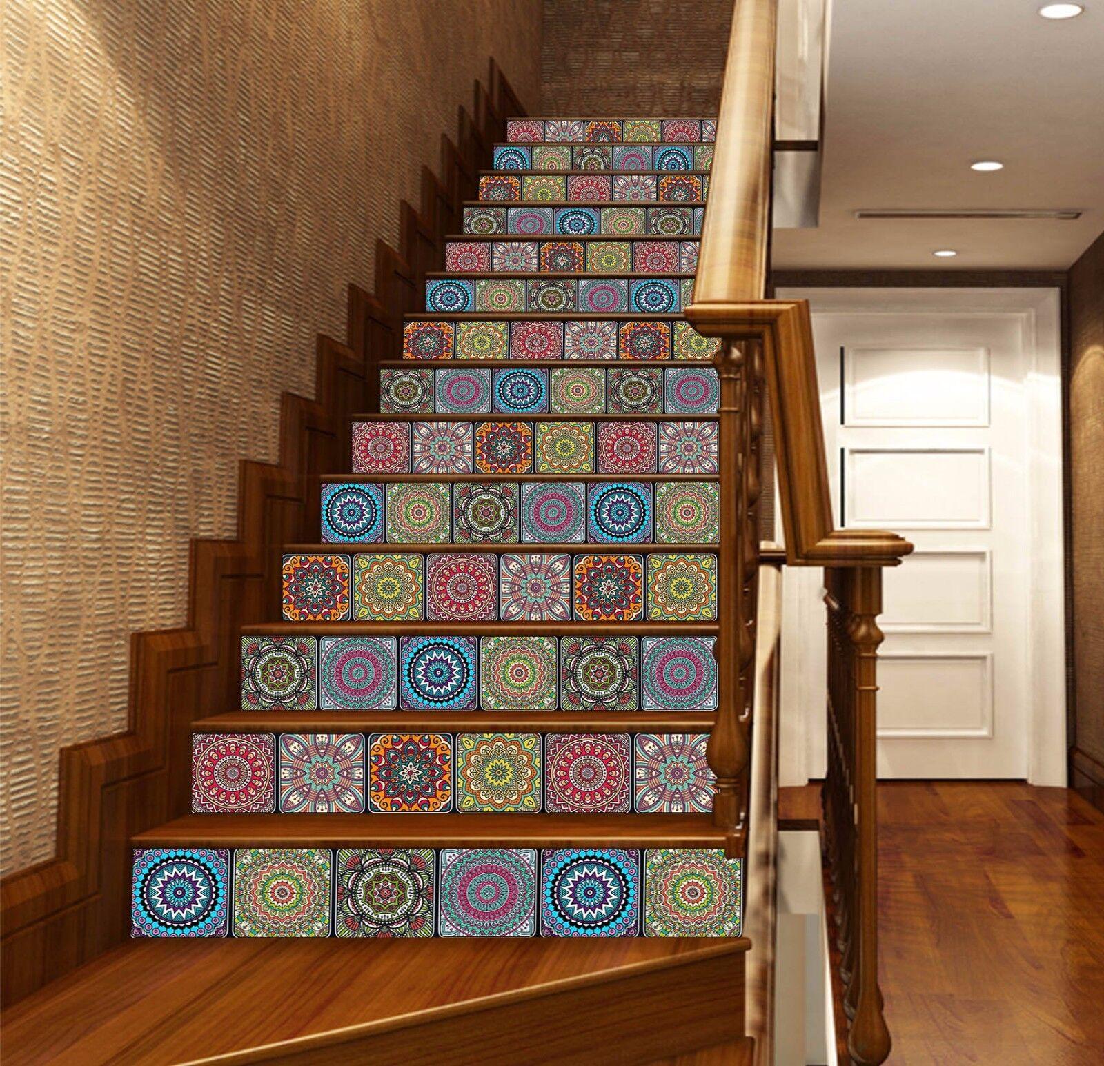 3D Petal 438 Stair Risers Decoration Photo Mural Vinyl Decal Wallpaper UK Lemon