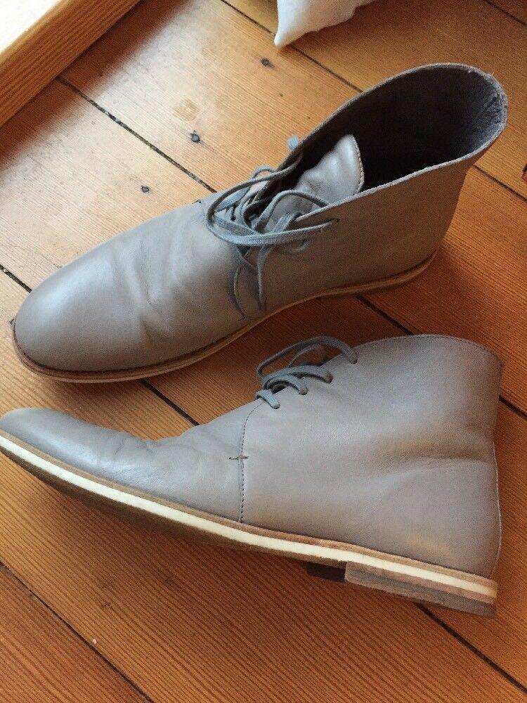 COS Herren Schuhe Stiefel Boots Grau Taupe 43 Neupreis 140