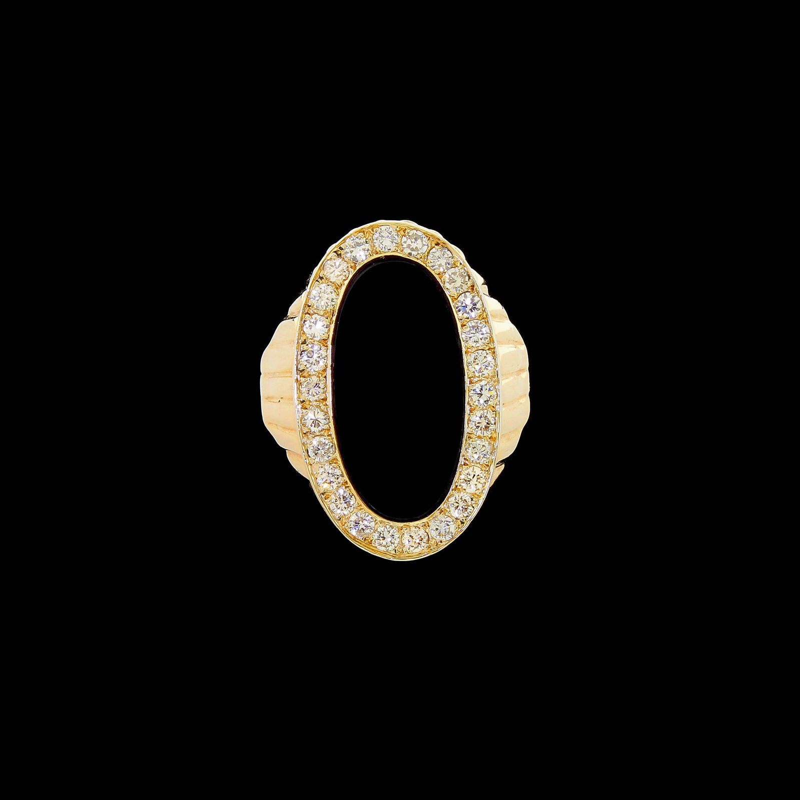 Vintage Men's 14k gold Large Onyx Diamond Ring Size 12 0.75 TCW Stunning Classy