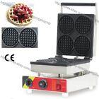 Commercial Nonstick Electric 4pcs Mini Round Waffle Maker Baker Iron Machine