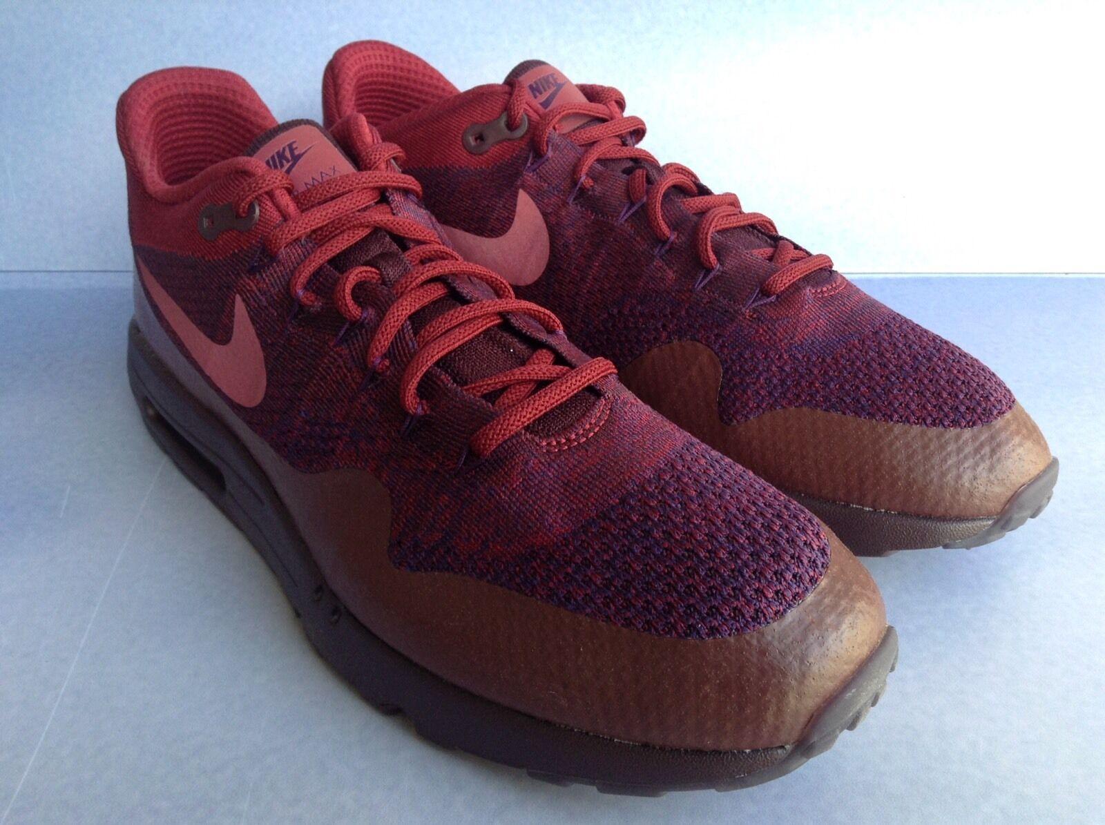 Nike air max 1 ultra sz.15 flyknit (856958 566) uomini sz.15 ultra (grand viola squadra rossa) 5262a6