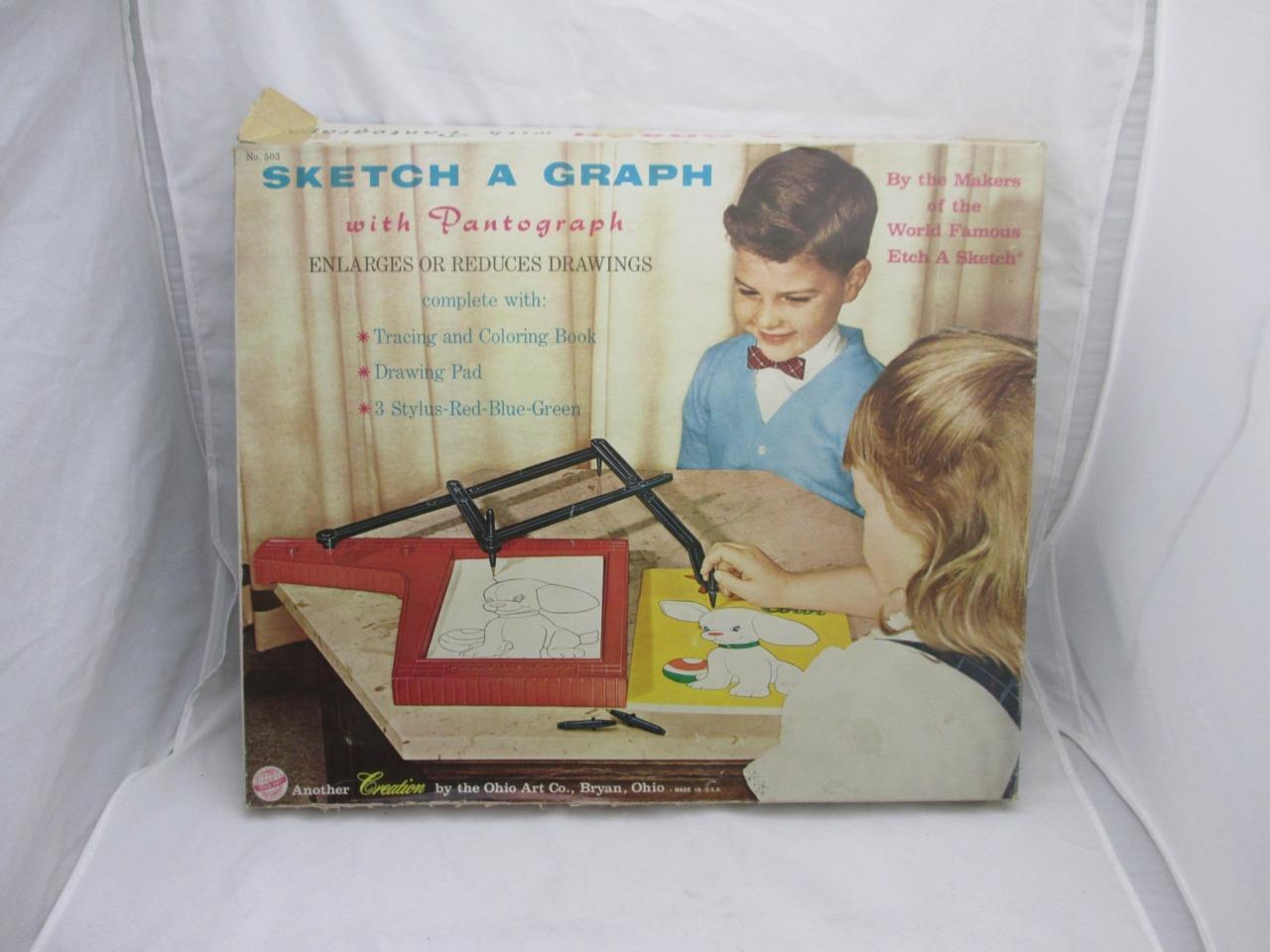 Vintage 1960 1960 1960 Toy Sketch-A-Graph Pantograph Tracing Drawing by Ohio Art Co c05b21