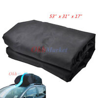 15cubic Ft Waterproof Rooftop Cargo Carrier Roof Rack Bundle Bag For Car Van Suv