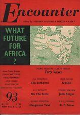 ENCOUNTER MAGAZINE (June 1962) JOHN BERGER-ELSPETH HUXLEY-THOMAS HODGKIN-ALLSOP