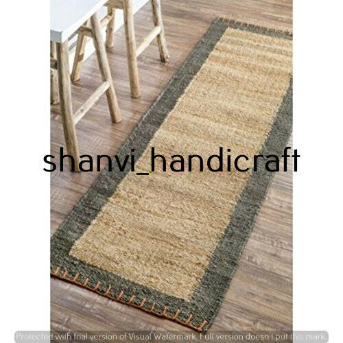 Rectangle Hand Woven Jute Rug Braided 2x3 Feet Area Rugs Natural Jute Rug Carpet