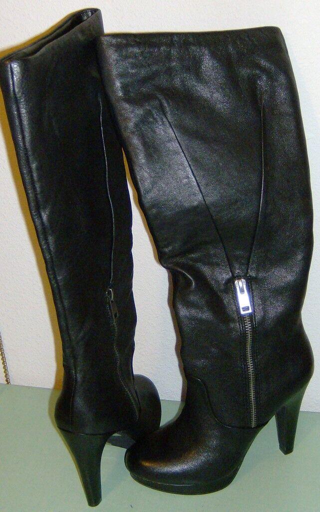 Jessica Simpson Rodilla Negro botas alany Negro Rodilla Nuevo Bomber 5.5 M 1f9cc2