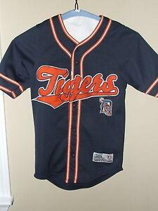 5609715f1 True Fan Youth SM 8 10 Detroit Tiger Baseball Jersey Button Up ...