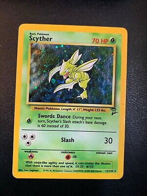 BASE SET 2-17//130 HOLO Rare Pokémon Card- VINTAGE WotC LP SCYTHER