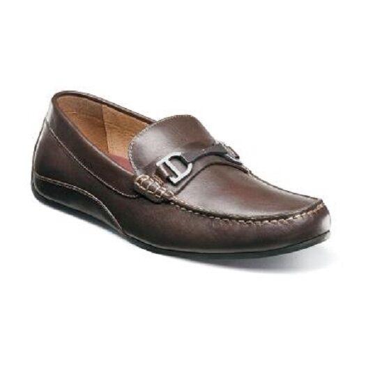 Florsheim Oval Bit Driver shoes Brown Leather Fully cushioned loafer 13301-200 W Scarpe classiche da uomo