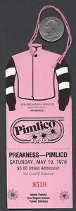 SPECTACULAR-BID-amp-AFFIRMED-1979-PREAKNESS-STAKES-HORSE-RACING-ADMISSION-TICKET