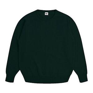 Community-Clothing-Women-039-s-Dark-Green-Wool-Crew-Neck-Jumper