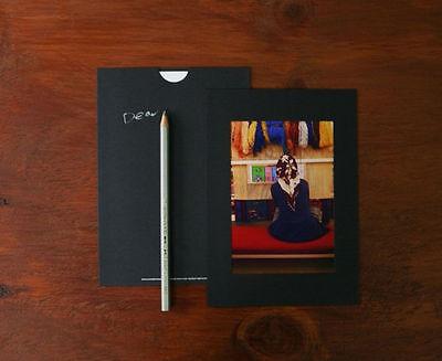 4x6 Photo Box Refill _ 4x6 Photo Paper Frames - Black - 30 Paper Frames Lot