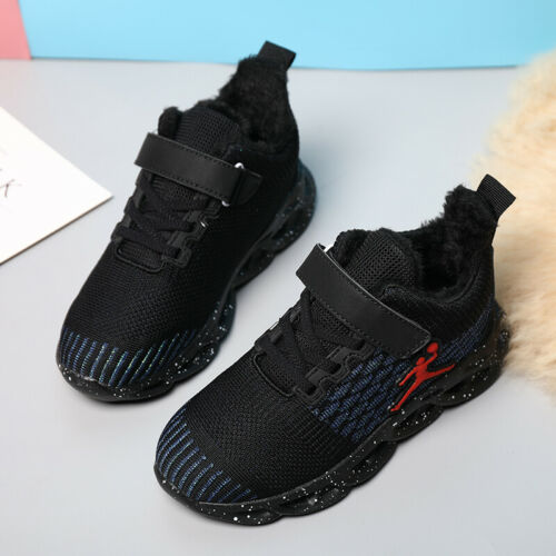 Kids Girls Winter Snow Boots Ankle Bootie Outdoor Warm Fur Lined Sports Shoes