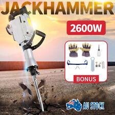 2600W Electric Commercial Jackhammer Demolition Jack Hammer Concrete + 3 Chisels