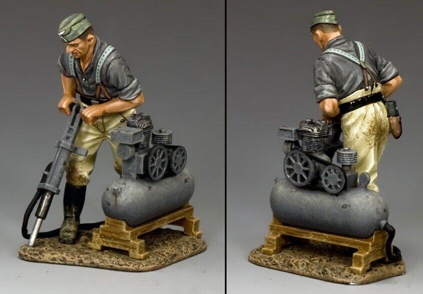 King & Country WW2 Deutsche Armee WH028 Ingenieur mit Bohrer MIB