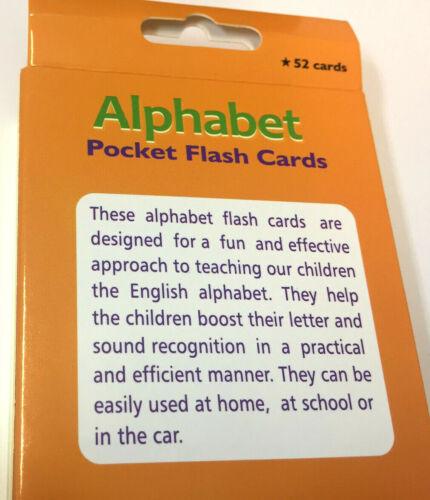 Kids Flash card ABC ALPHABETS Read Educational Study Alphabets A-Z Spellings