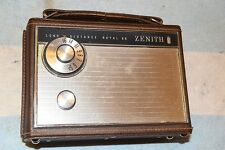 ZENITH ROYAL 66 LARGE 7 TRANSISTOR RADIO PRO SERVICED circa 1966 ALL-ORIGINAL