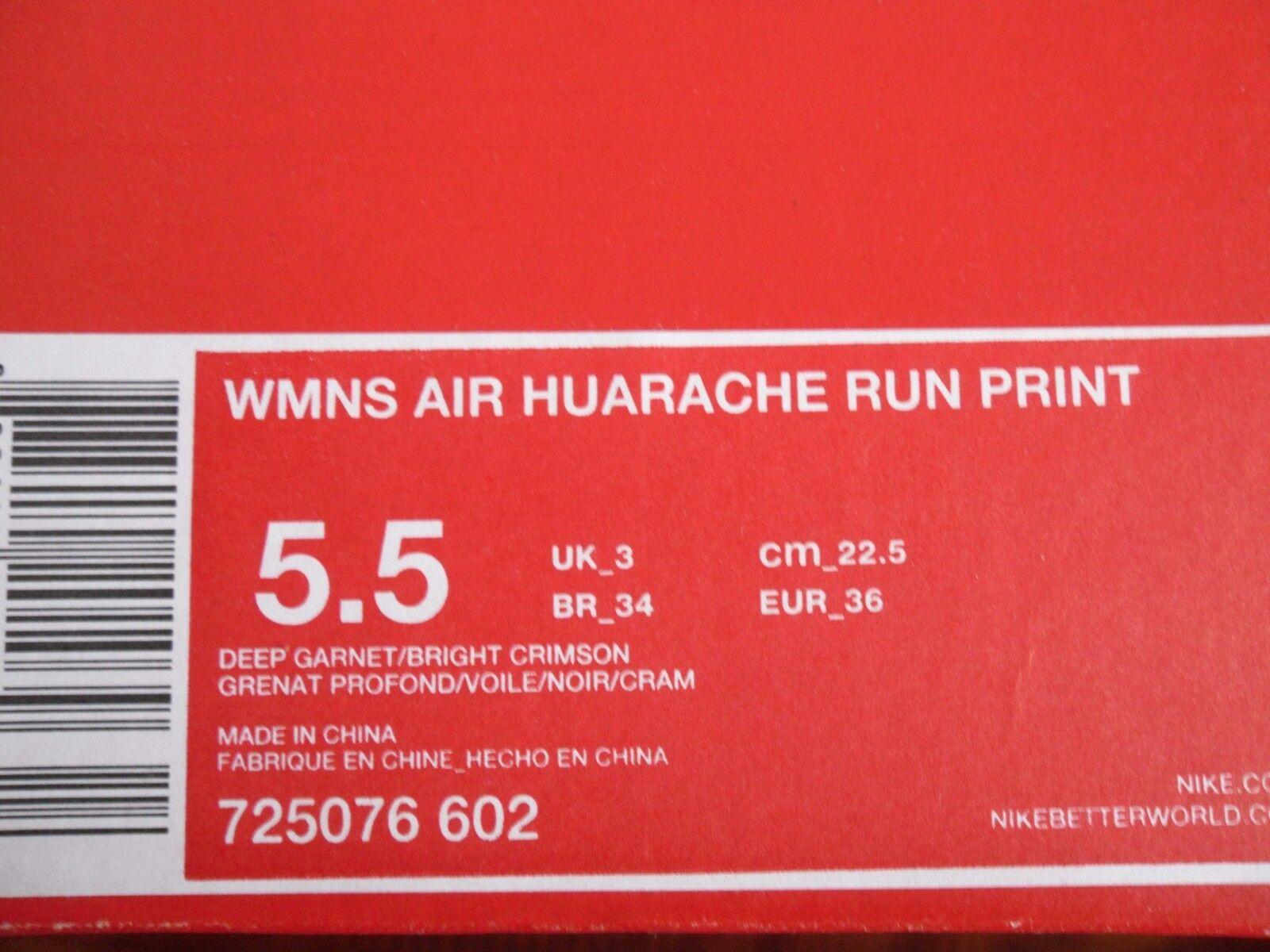 nike air crimson huarache laufen tief garnet-bright drucken crimson air sz 5,5 (725076-602] 818dfd