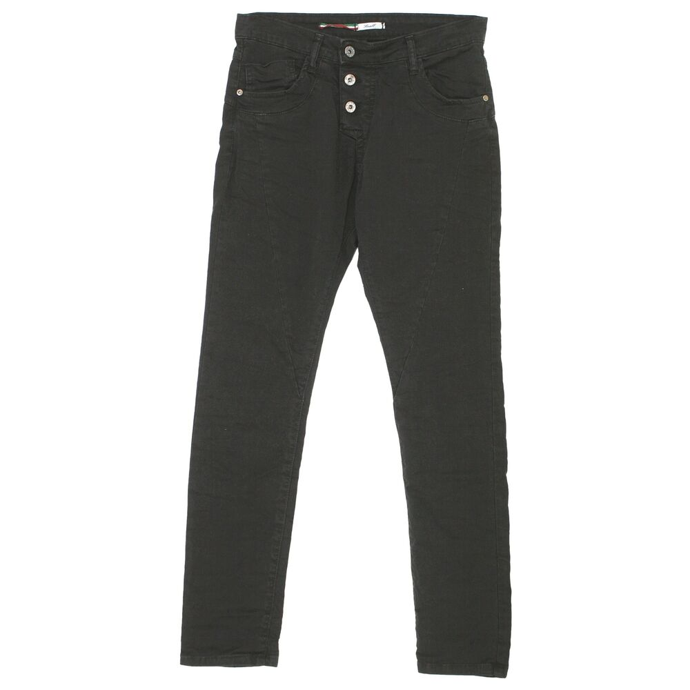 20407 Please Jeans Femmes Pantalon P78a Slim Stretch Nero Noir