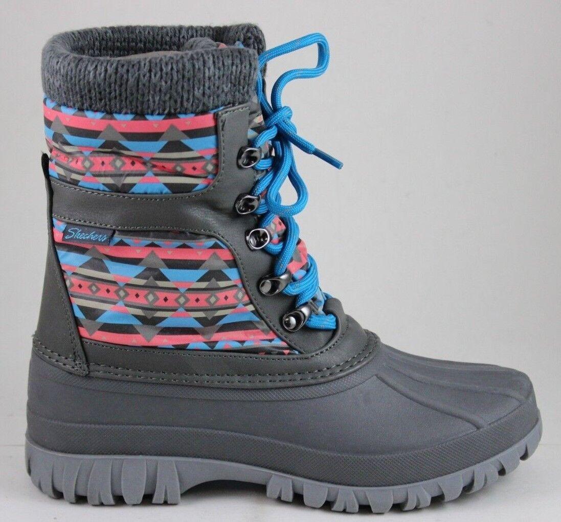 Skechers Women's Windom-RIVERFEST 49819 Charcoal 3M Thinsulate Waterproof