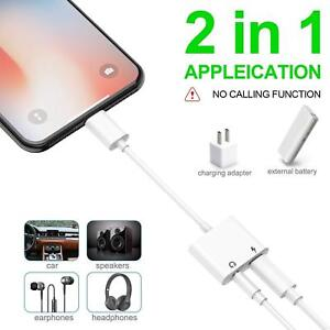 official photos 2efdc 7bd11 Details about For iPhone X 8 7 Plus IOS 10.3 IOS 11 Aux Audio Charge  Adapter Cable Dongle USA