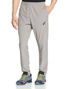 Détails sur Asics Homme Track Pants Gris Jogging Gym Loisirs Formation Pantalon De Survêtement afficher le titre d'origine