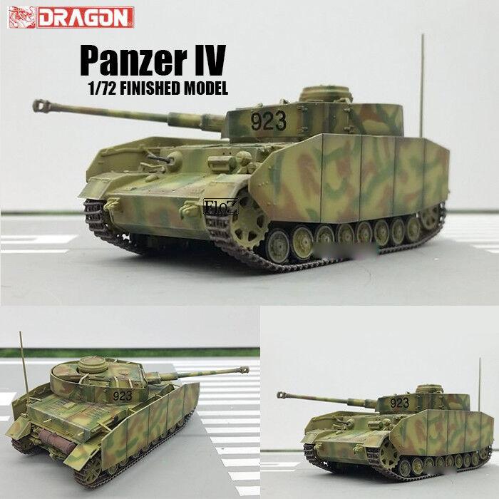 Dragon Panzer IV alemán de la Segunda Guerra Mundial modelo de tanque de 1 72 diecast acabado no