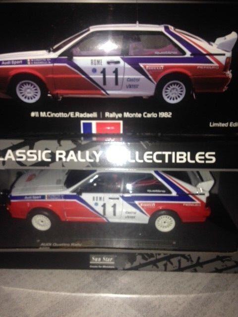 Audi Quattro Rally MONTE CARLO 1982  11  SN 452/769 SUNSTAR 4199