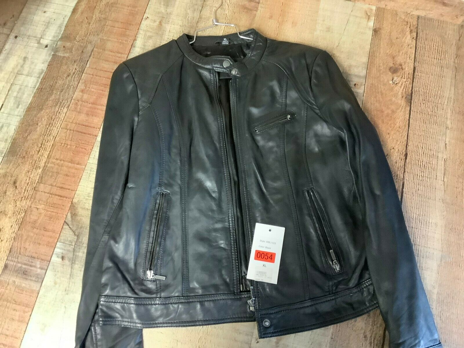 XL WOMENS Black Leather Vented Motorcycle Jacket WBL-1025 #0054