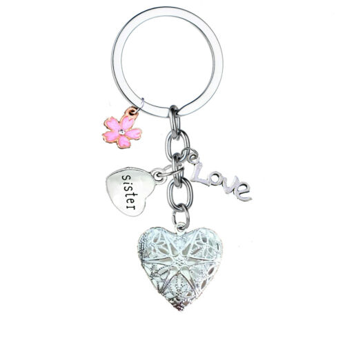Personalised HAPPY BIRTHDAY Gifts Mum Heart Charm Keyring Gift For Her Key Ring